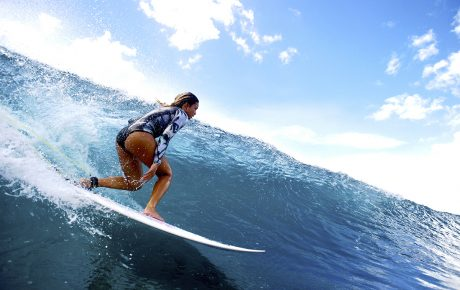 Alessa Quizon in Hawaii Tides by Billabong